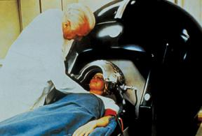 Lars Leksell with his Gamma Knife radiotherapy system in 1968