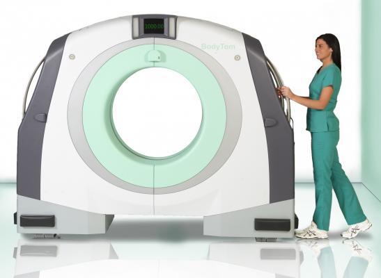 moblie lung CT unit, first in the U.S., Carolinas, Levine Cancer Institute, Samsung NeuroLogica, BodyTom CT scanner