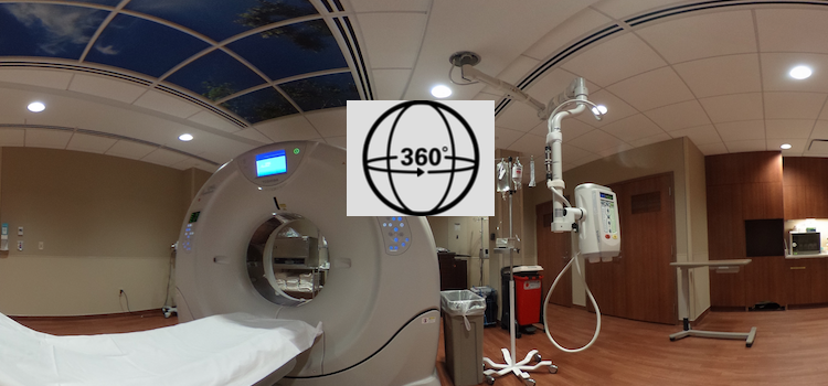 360 View of an Aquilion One 320-slice CT at Northwestern Medicine Central DuPage Hospital